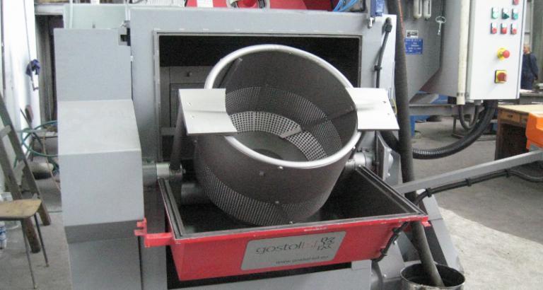 Blasting machine with rotating barrel  - HR-1B