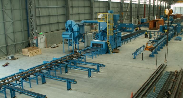 Roller conveyor shot blasting machine – P