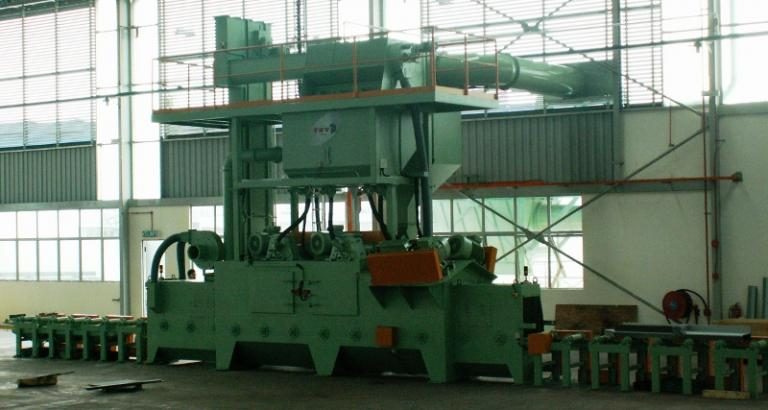 Shot peening machine for coil springs – VZ