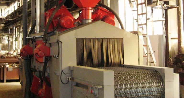 Wire mesh belt shot blasting machine – KTP