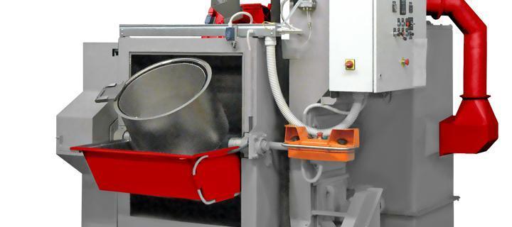 Shot blasting machine with rotating barrel  - HR-1B