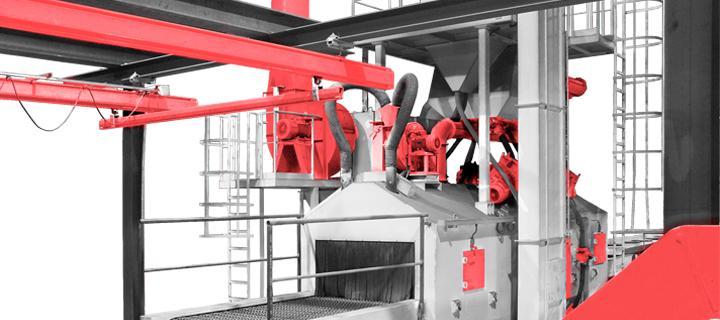 Wire mesh belt blast machine – KTP