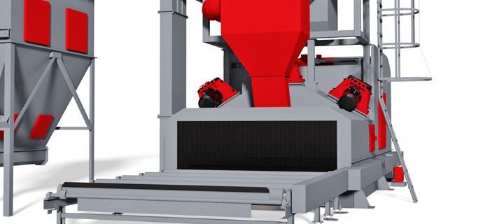 Roller conveyor blast machine – P