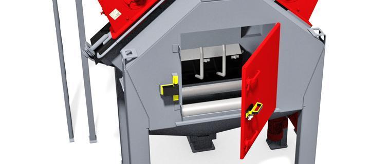 Machine for blasting wheel rims - PP