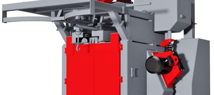 Spinner hanger shot blasting machine – VK